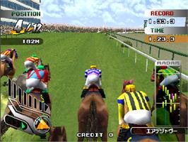 In game image of Gallop Racer 3 on the Arcade.