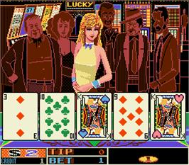 In game image of Gals Ds - Three Dealers Casino House on the Arcade.