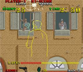 In game image of Gang Hunter on the Arcade.