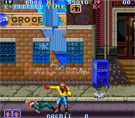 In game image of Gang Wars on the Arcade.