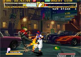 In game image of Garou - Mark of the Wolves on the Arcade.