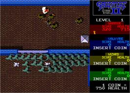In game image of Gauntlet II on the Arcade.