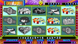 In game image of Get Rich on the Arcade.