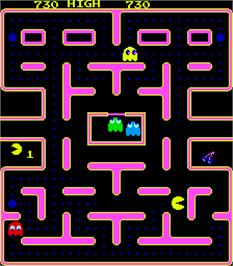 In game image of Ghostmuncher Galaxian on the Arcade.