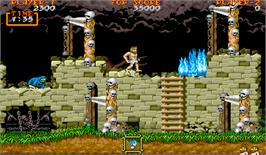 In game image of Ghouls'n Ghosts on the Arcade.