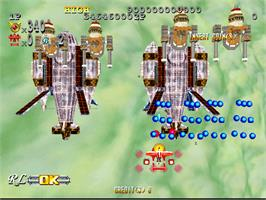 In game image of Giga Wing 2 on the Arcade.