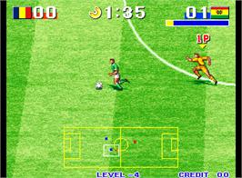 In game image of Goal! Goal! Goal! on the Arcade.