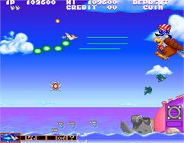 In game image of Gokujyou Parodius on the Arcade.