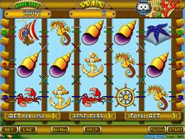 In game image of Gold Fish on the Arcade.