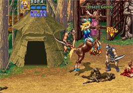 In game image of Golden Axe: The Revenge of Death Adder on the Arcade.