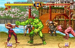 In game image of Golden Axe - The Duel on the Arcade.