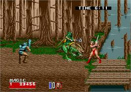 In game image of Golden Axe II on the Arcade.