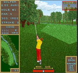 In game image of Golden Par Golf on the Arcade.