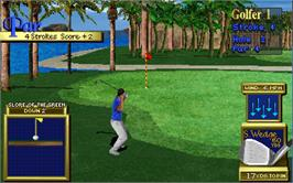 In game image of Golden Tee '99 Tournament on the Arcade.