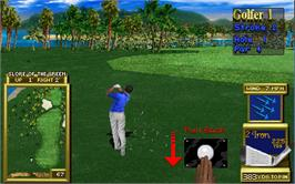 In game image of Golden Tee 2K on the Arcade.