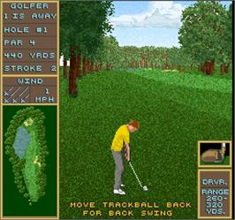 In game image of Golden Tee Golf II on the Arcade.
