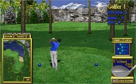 In game image of Golden Tee Royal Edition Tournament on the Arcade.