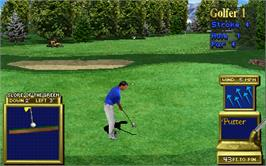 In game image of Golden Tee Supreme Edition Tournament on the Arcade.