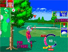 In game image of Golfing Greats on the Arcade.