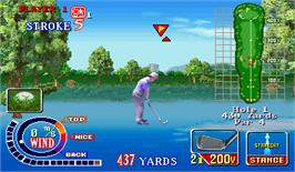 In game image of Golfing Greats 2 on the Arcade.
