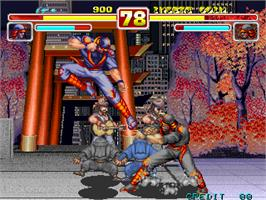 In game image of Gouketsuji Ichizoku 2 on the Arcade.