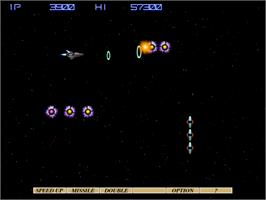 In game image of Gradius 4: Fukkatsu on the Arcade.