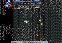 In game image of Gradius II - GOFER no Yabou on the Arcade.