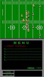 In game image of Great Football on the Arcade.