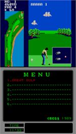In game image of Great Golf on the Arcade.
