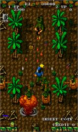 In game image of Guerrilla War on the Arcade.