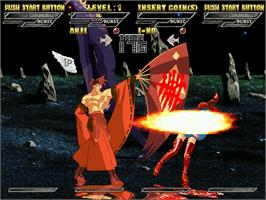 In game image of Guilty Gear Isuka on the Arcade.
