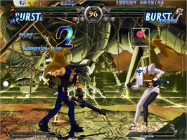 In game image of Guilty Gear XX #Reload on the Arcade.