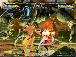 In game image of Guilty Gear XX on the Arcade.