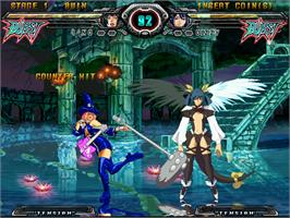 In game image of Guilty Gear XX Accent Core on the Arcade.