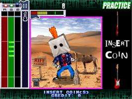 In game image of Guitar Freaks 2nd Mix Ver 1.01 on the Arcade.