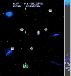 In game image of Halley's Comet '87 on the Arcade.