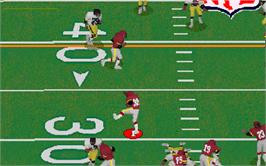 In game image of Hard Yardage on the Arcade.