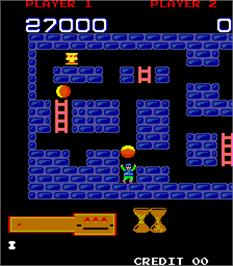 In game image of Hero in the Castle of Doom on the Arcade.