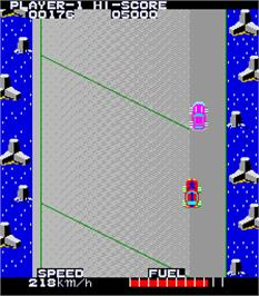 In game image of High Way Race on the Arcade.