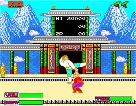 In game image of Hokuha Syourin Hiryu no Ken on the Arcade.
