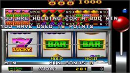 In game image of Hold & Spin II on the Arcade.