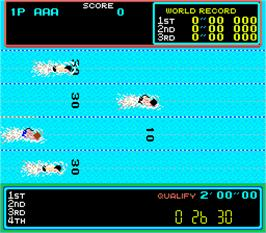 In game image of Hyper Olympic '84 on the Arcade.