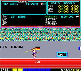In game image of Hyper Olympic on the Arcade.
