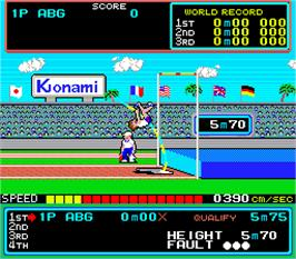 In game image of Hyper Sports on the Arcade.