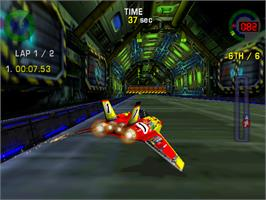 In game image of Hyperdrive on the Arcade.