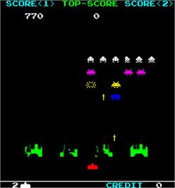 In game image of IPM Invader on the Arcade.