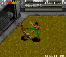 In game image of Ikari III - The Rescue on the Arcade.