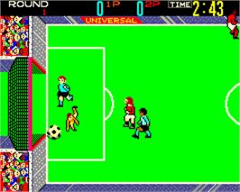 In game image of Indoor Soccer on the Arcade.