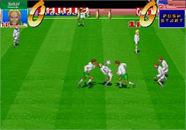In game image of International Cup '94 on the Arcade.