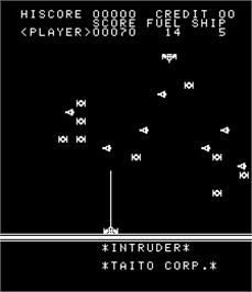 In game image of Intruder on the Arcade.